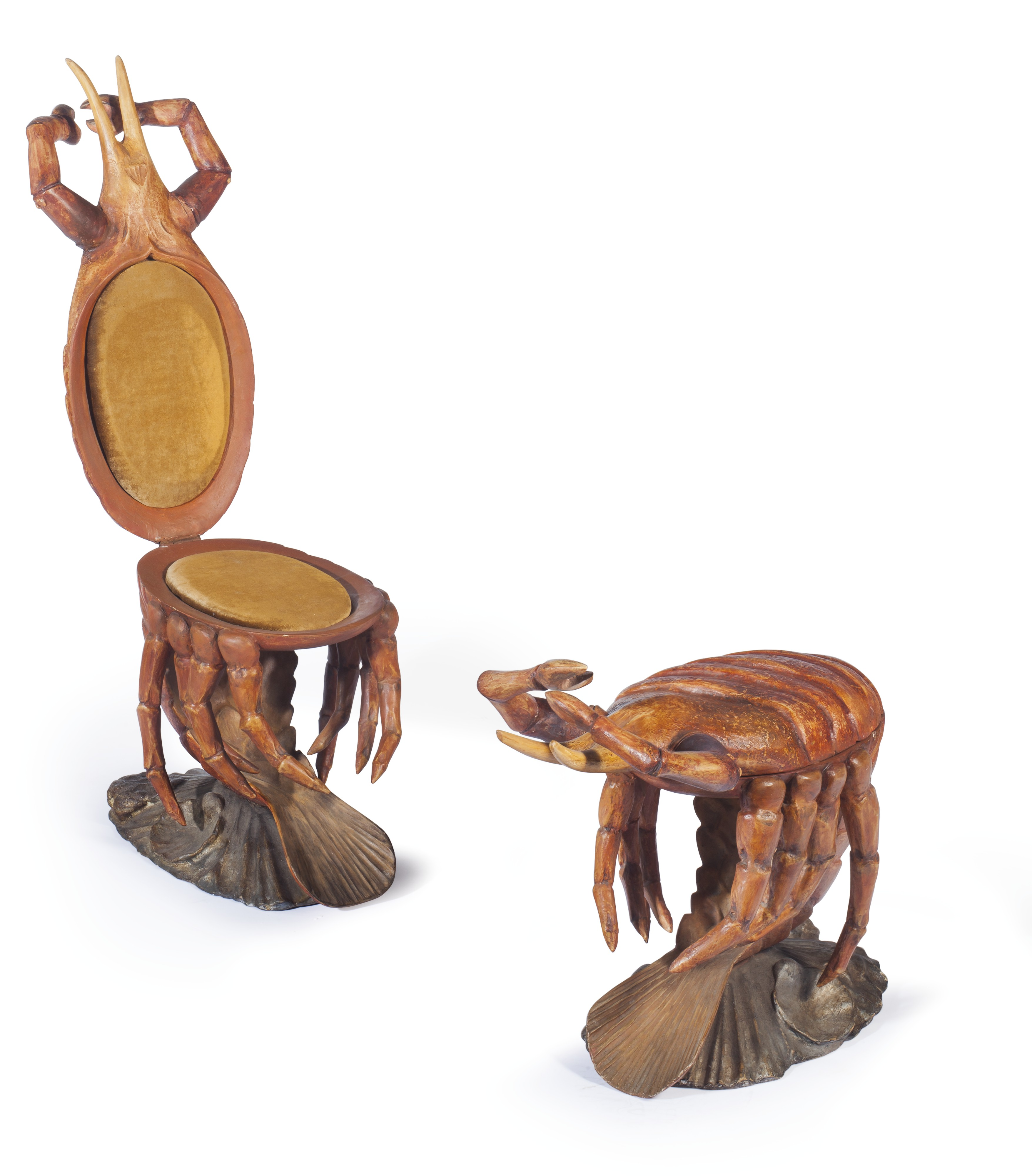 Update: The Venetian Lobster Form Chairs Sold For $7,500.