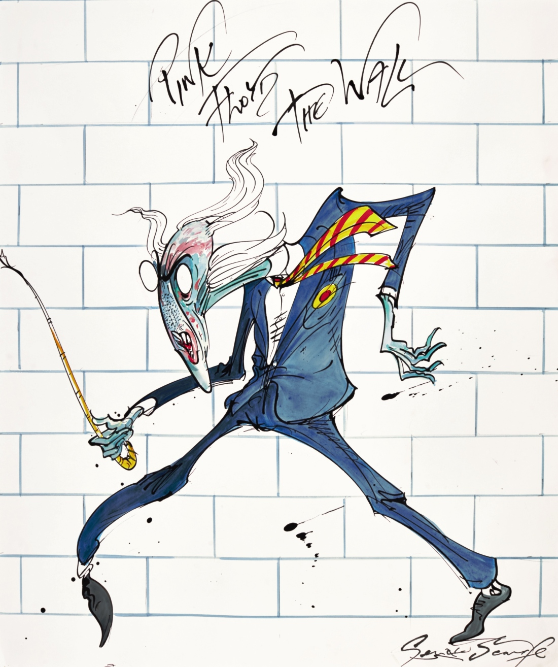 Lot 40, Gerald Scarfe, ' The Teacher'