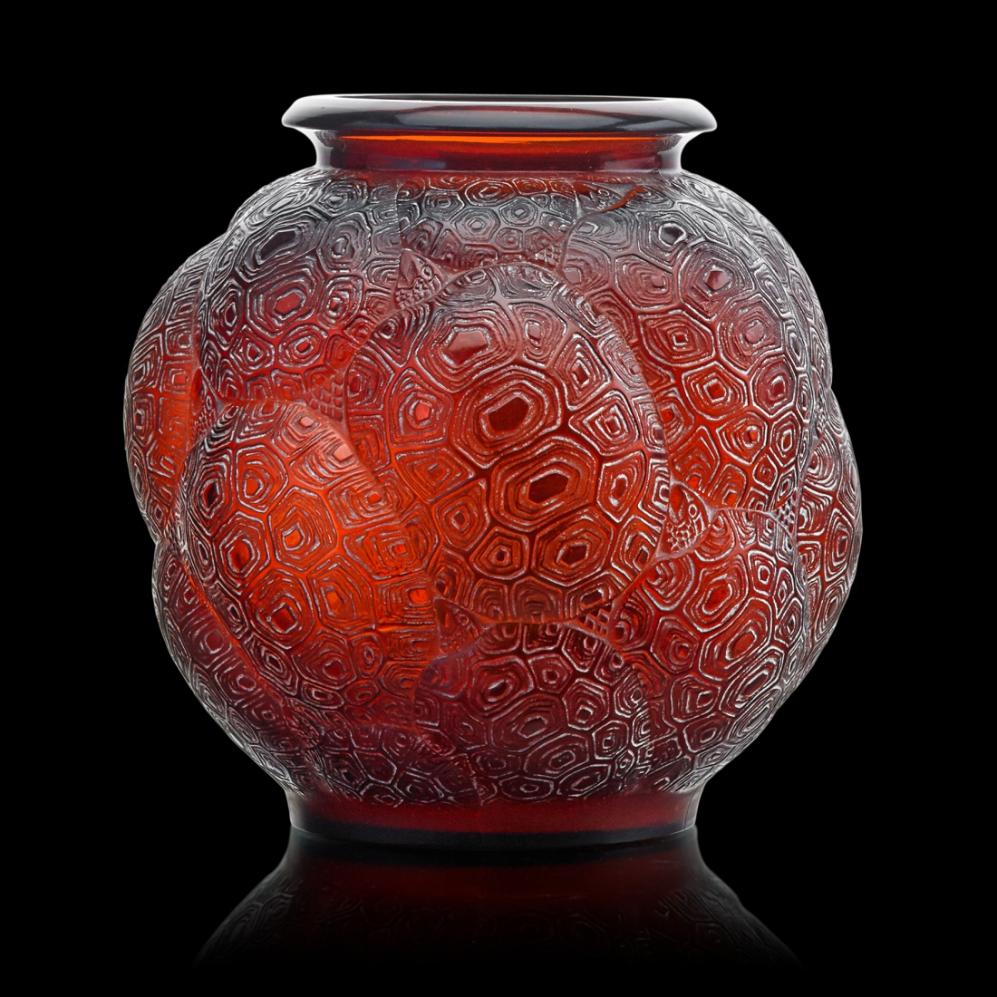update the lalique tortues vase sold for 25000 - Lalique Vase