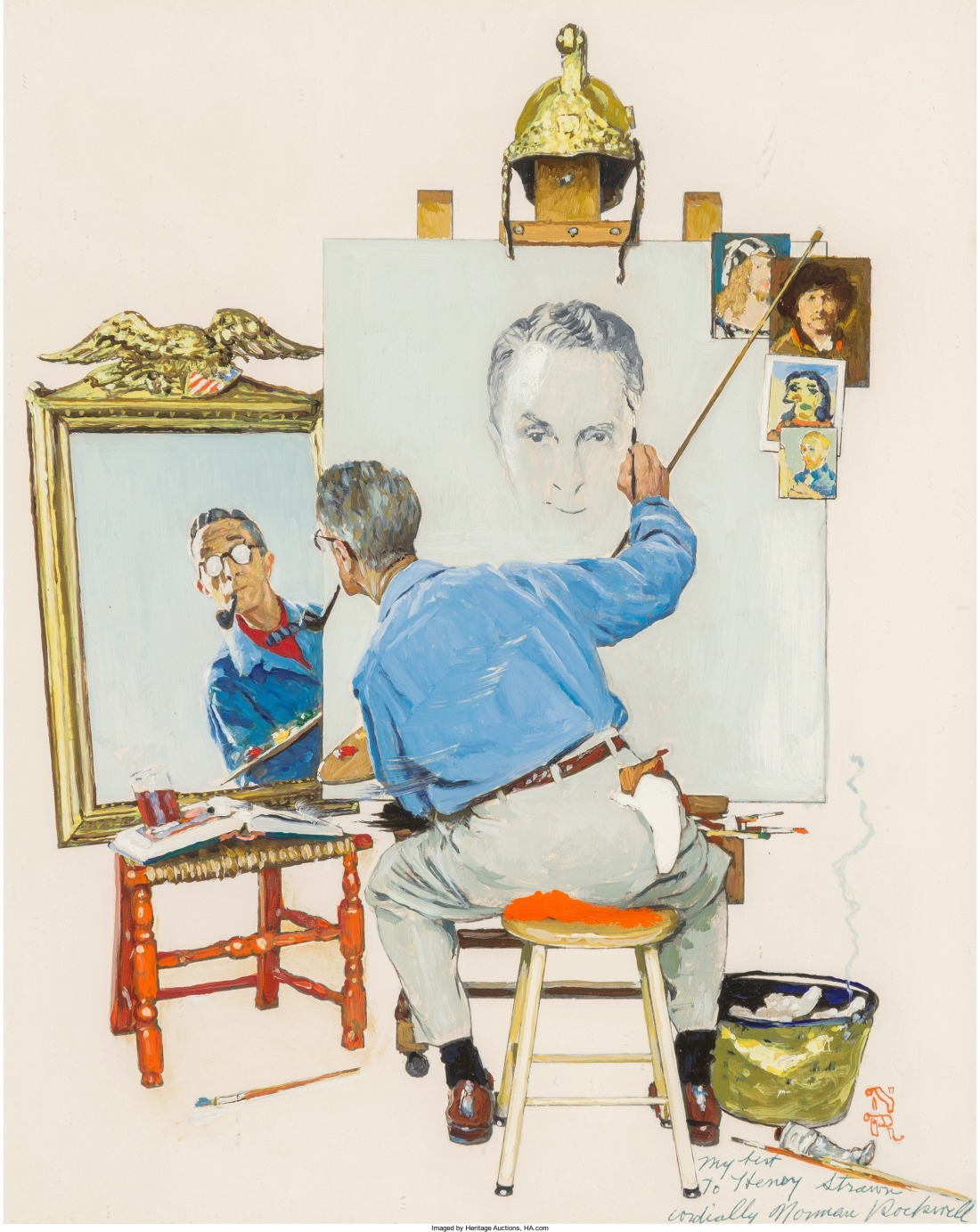 Study for Triple Self Portrait, 1960