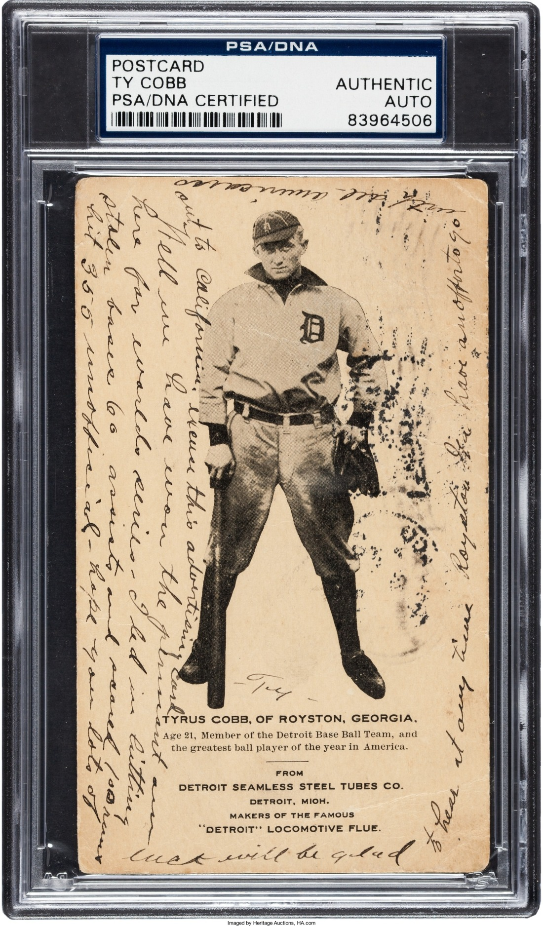 Ty Cobb rookie postcard 1