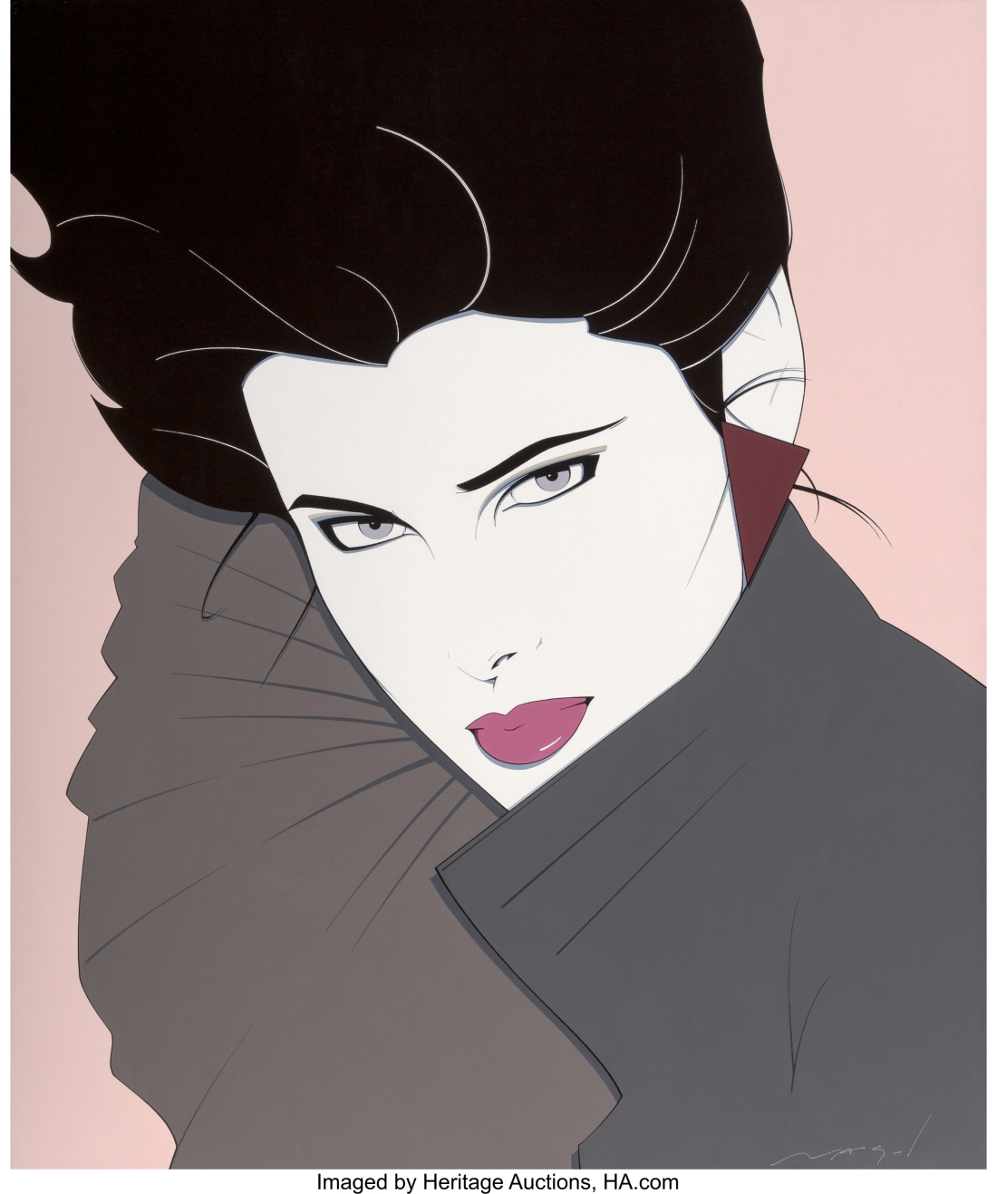 Patrick Nagel (American, 1945-1984). Bold World Record $200,000 Heritage...