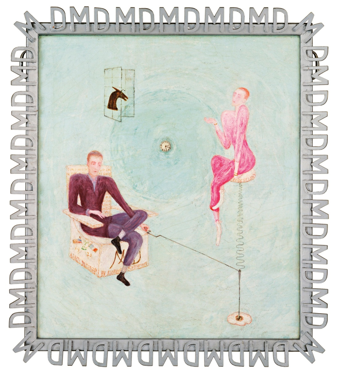 Stettheimer, Portrait of Marcel Duchamp and Rrose Selavy