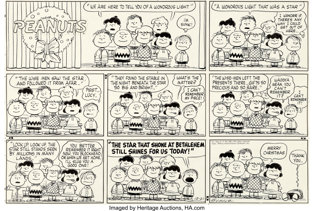 Charles_Schulz_Peanuts_Sunday_Comic_Original_Art_(United Feature Syndica...