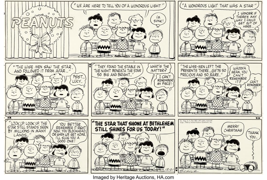 Charles_Schulz_Peanuts_Sunday_Comic_Original_Art_(United Feature Syndica...