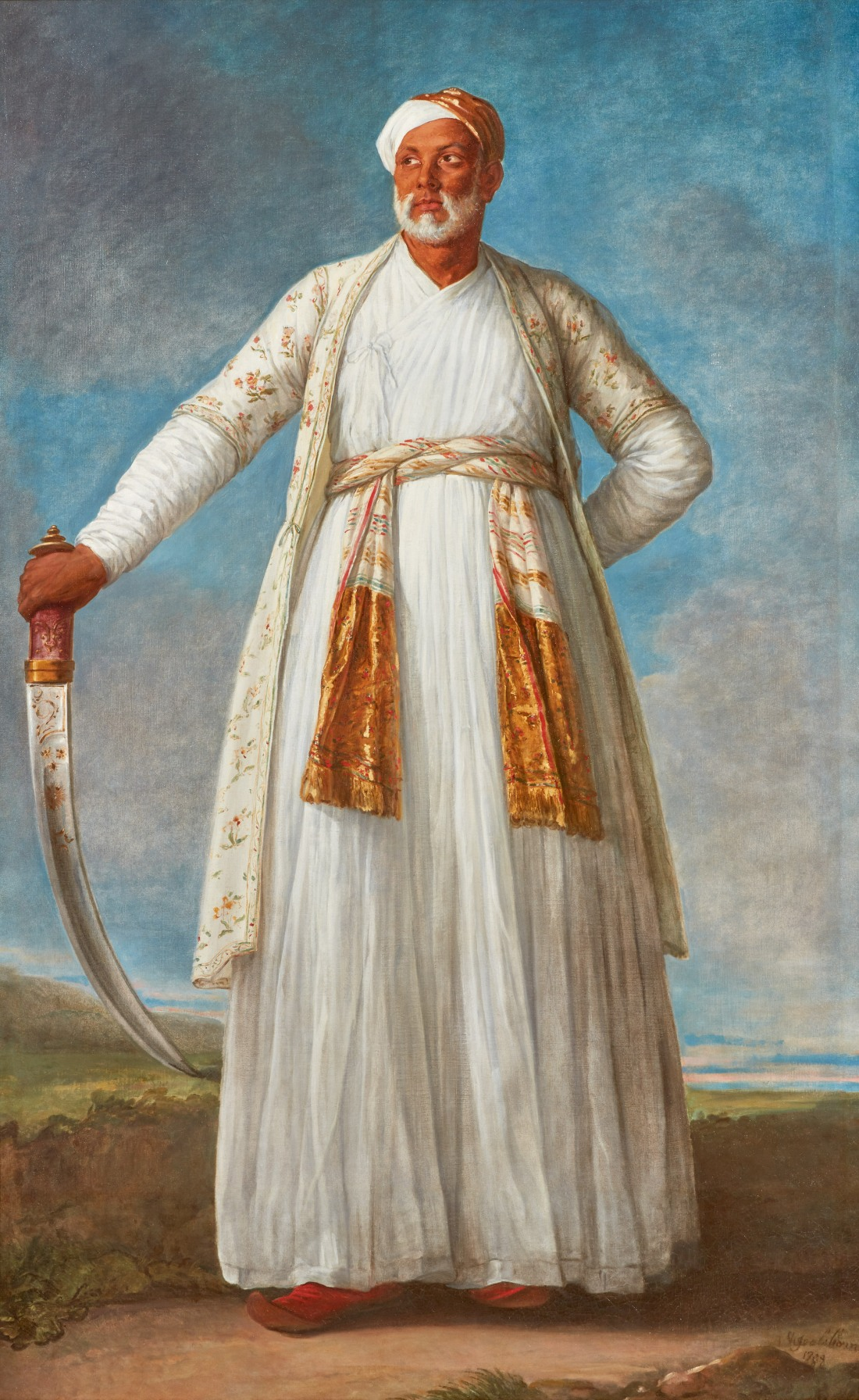 10007 lot 48 vigee le brun, portrait of muhammad dervish khan