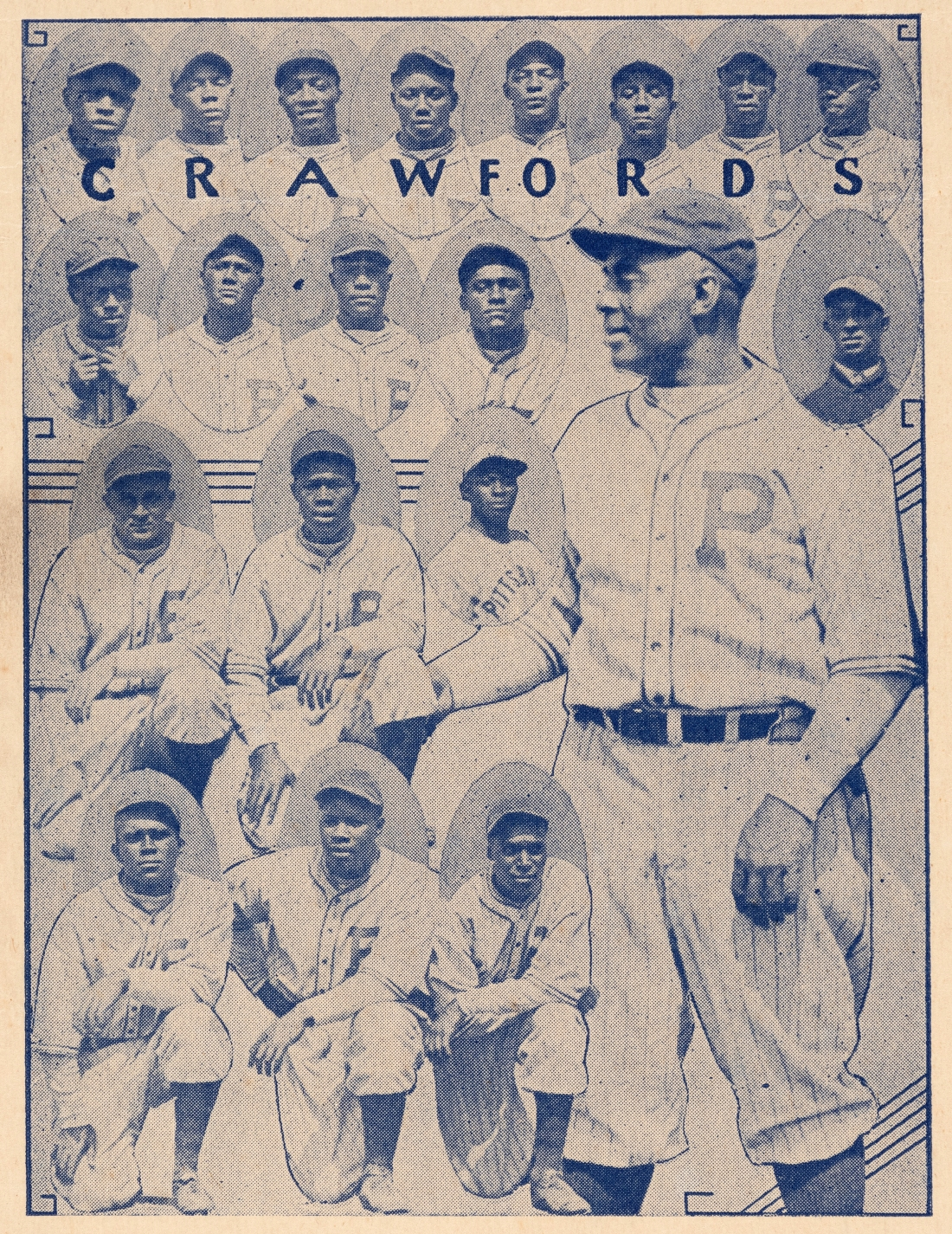 The legendary Pittsburgh Crawfords, as shown in the 1935 Negro League Baseball broadside.