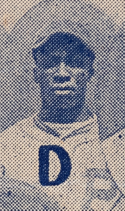 Cool Papa Bell's portrait from the 1935 Negro League Baseball broadside.
